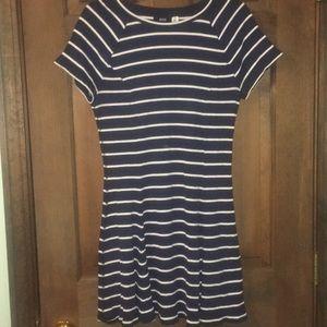 BDG blue and white striped skater dress